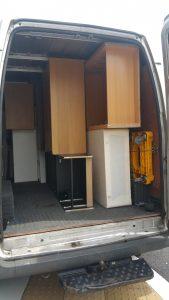 heavy wadrobes uploaded in van